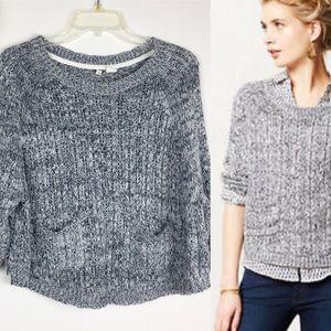 Anthropologie | Moth Marled Swing Pocket Sweater